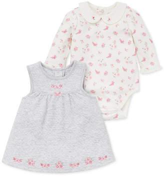Little Me Baby Girls 2-Pc. Floral-Print Bodysuit & Jumper Set