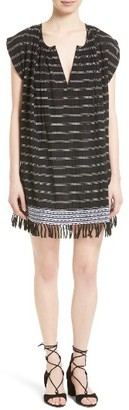 Women's Soft Joie Santalina Stripe Cotton Voile Swing Dress $238 thestylecure.com