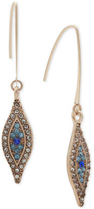 lonna & lilly Gold-Tone Clear & Colored Pave Evil Eye Drop Earrings