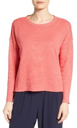 Women's Eileen Fisher Organic Linen Sweater $158 thestylecure.com