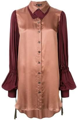 Ann Demeulemeester long two-tone blouse