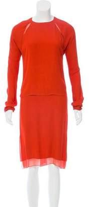 Reed Krakoff Long Sleeve Midi Dress