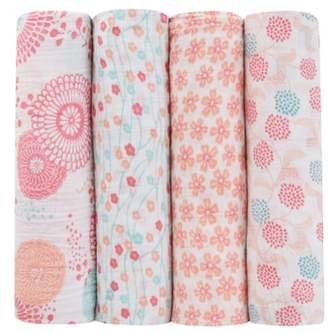 Aden Anais aden + anais x Tea Collection 4-Pack Swaddling Cloths