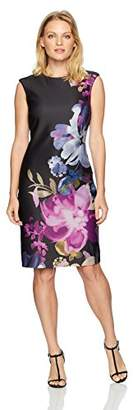 Tahari by Arthur S. Levine Women's Petite Size Sleeveless Floral Printed Sheath Dress