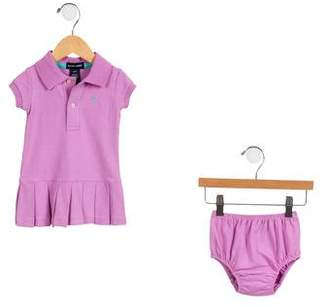 Ralph Lauren Girls' Pleated Bloomers Set