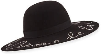 Eugenia Kim Honey Creme de la Creme Crystal-Embellished Wool Hat