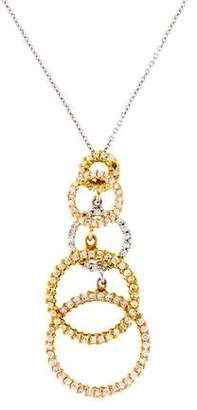 Roberto Coin 18K Diamond Five Circle of Life Pendant Necklace