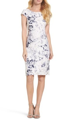 Women's Chetta B Lace Sheath Dress $98 thestylecure.com