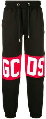 Gcds knee-logo jersey trousers