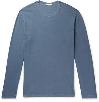 James Perse Cotton-Jersey T-Shirt - Men - Blue