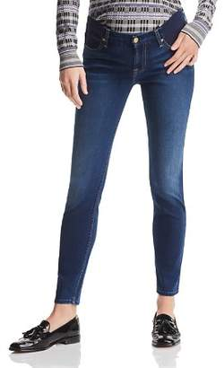 7 For All Mankind Maternity Ankle Skinny Jeans in Medium Blue