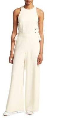 Zimmermann Lace-Up Wide Leg Jumpsuit