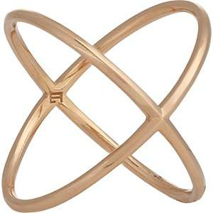 Eva Fehren Women's X Ring-Rose Gold