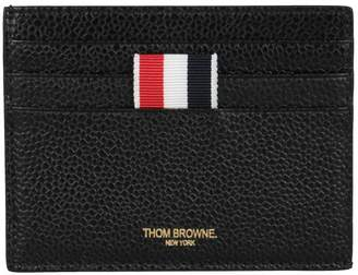 at italist thom browne pebbled leather card holder - Thom Browne Card Holder