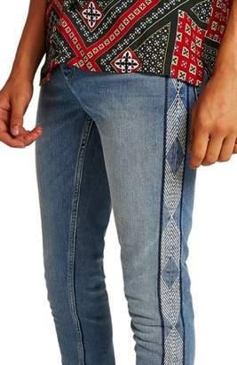 Topman Side Stitched Stretch Skinny Jeans