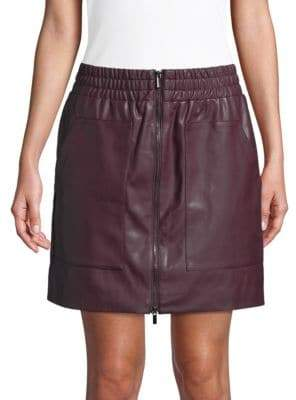 fa1ec1f62 French Connection Birshen Faux-Leather Mini Skirt