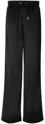 NO KA 'OI NO KA'OI - Kai Kao Striped Satin-jersey Track Pants - Black