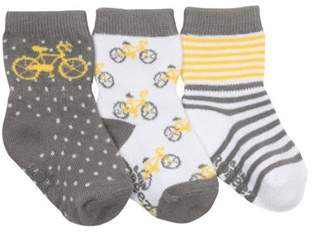 Infant Boys' Bicycle Baby Socks (9 Pairs).