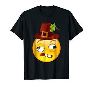 DAY Birger et Mikkelsen Fearful Face Emoji Thanksgiving T Shirt Turkey Shirt