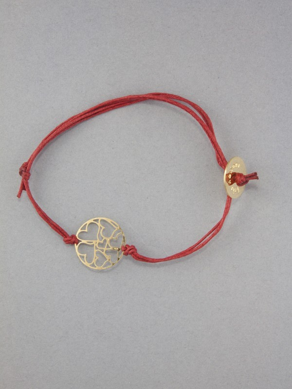 Kris Nations Gold Small Hearts Charm Bracelet