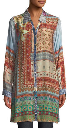 Johnny Was Carro Button-Front Tunic, Plus Size