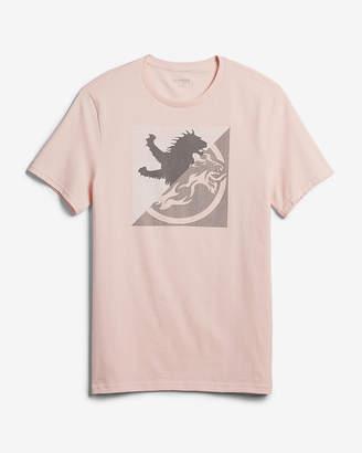 Express Split Lion Logo Cotton Graphic Tee