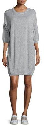 Vince 3/4-Sleeve Sweatshirt Dress, Gray $165 thestylecure.com