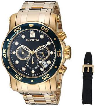 Invicta Men's 'Pro Diver' Quartz Gold-Tone-Stainless-Steel Casual Watch