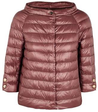 Herno Dark Rose Quilted Shell Jacket