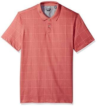 Van Heusen Men's Printed Windowpane Polo Shirt
