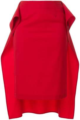 MM6 MAISON MARGIELA draped hi-low hem skirt