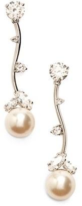 Women's Nadri Imitation Pearl Linear Drop Earrings $50 thestylecure.com