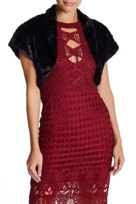 Eliza J Faux Fur Caplet Bolero $128 thestylecure.com