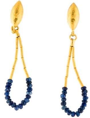 Gurhan 24K Sapphire Rain Teardrop Earrings yellow 24K Sapphire Rain Teardrop Earrings