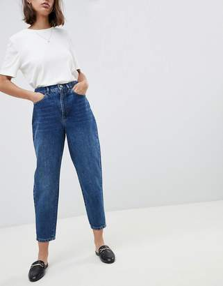 a2cb7d1dfc Asos Design DESIGN Balloon leg boyfriend jeans in dark wash blue