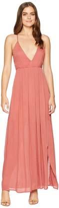 American Rose Jocelynn Maxi Dress with Side Slit Women's Dress