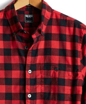 at Todd Snyder · Todd Snyder Button Down Red Buffalo Check Shirt 64645593760