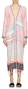 Lemlem Women's Tereza Cotton-Wool Caftan-Light, Pastel pink