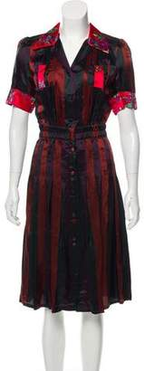 Jean Paul Gaultier Striped Midi Dress