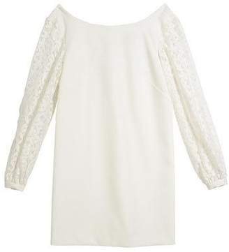 Milly Minis Shawna Lace-Sleeve Tie-Back Shift Dress, Size 7-16