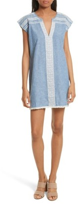 Women's Soft Joie Natali Chambray Shift Dress $228 thestylecure.com