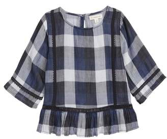 Tucker + Tate Ruffle Plaid Top