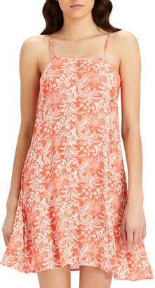 Onia Sasha Open-Back Floral-Print Mini Coverup Dress