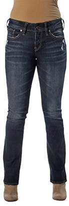Silver Jeans Co. Women's Elyse Relaxed Fit Mid Rise Slim Bootcut