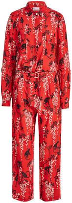 RED Valentino Monkey Print Silk Jumpsuit