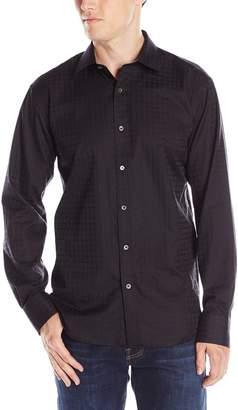 Bugatchi Men's Tonal Bars Button Down Shirt