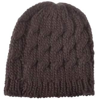 Beanie Hat for Women by Zodaca Winter Warm Crochet Hat Braided Cap - Brown