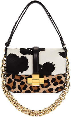 No.21 No. 21 Mixed Animal-Print Fur Shoulder Bag