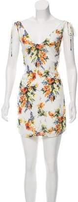 Haute Hippie Floral Print Mini Dress w/ Tags