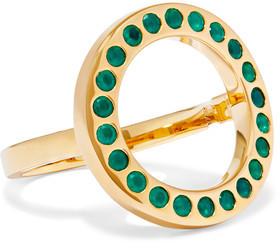 Monica Vinader Pop Circle Gold-Tone Crystal Ring